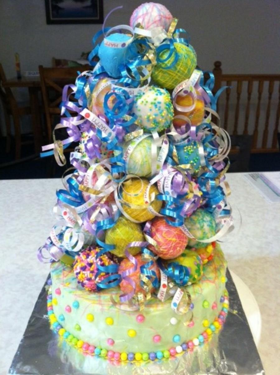 Birthday Cake Pop Tower Cakecentral Com