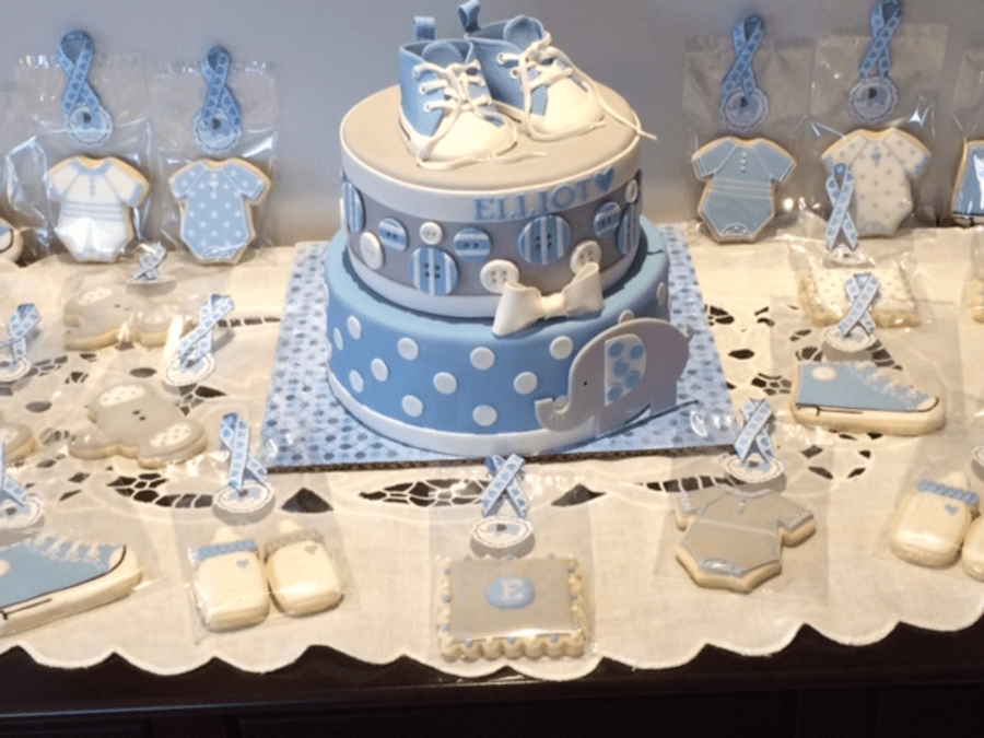 Christening Converse Baby Shoes And Elephant  CakeCentralcom