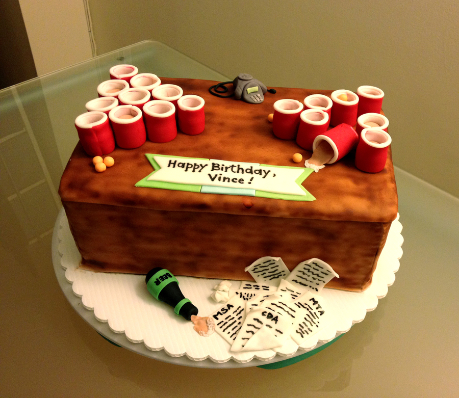 Beer Pong Birthday Cake Cakecentral Com