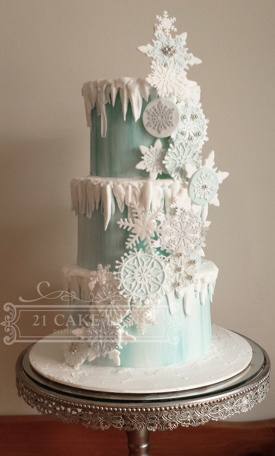 Frozen Snowflake Cake Cakecentral Com