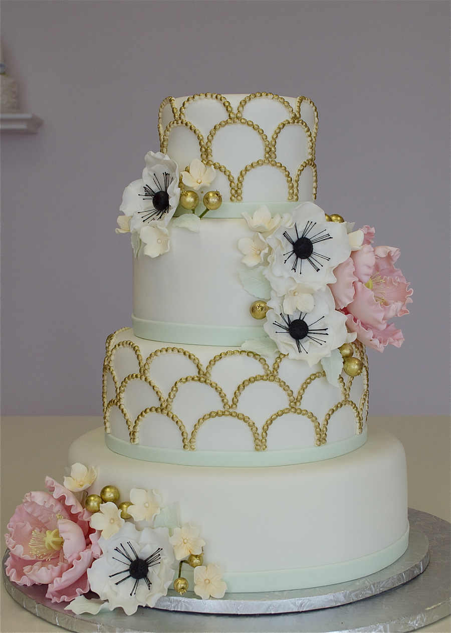 1920s Fondant Wedding Cake