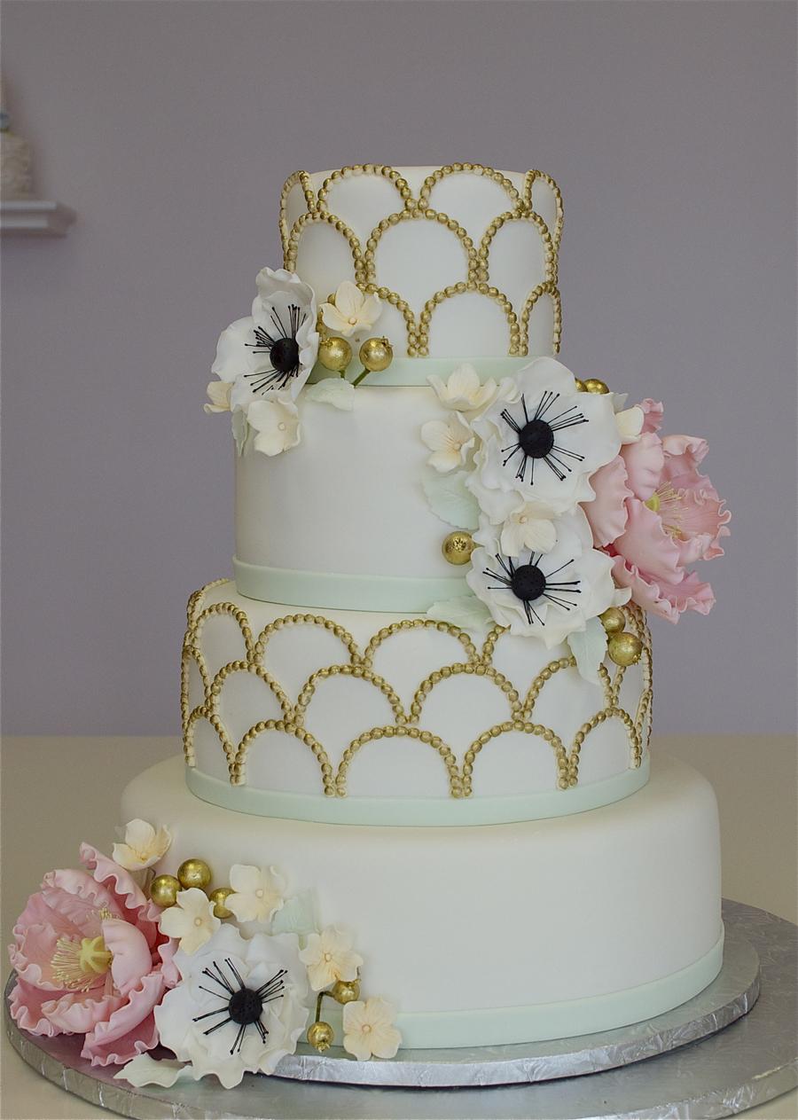 1920 S Fondant Wedding Cake Cakecentral Com