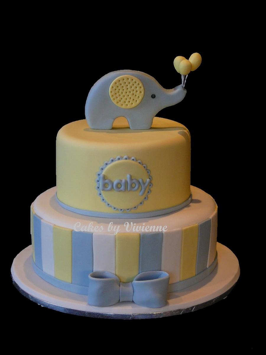 Yellow Gray Baby Shower Decorations