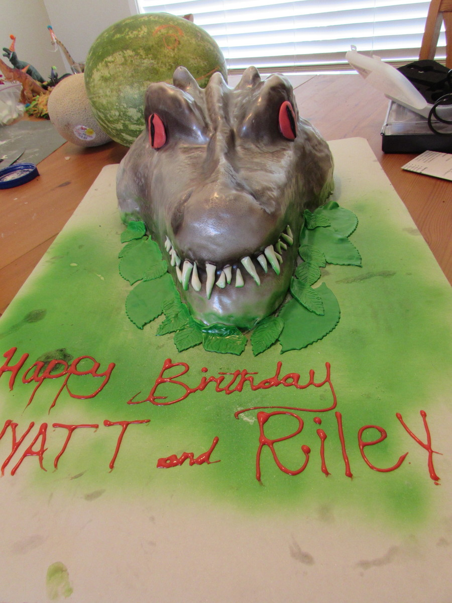 Indominus Rex Jurassic World Cake  CakeCentralcom