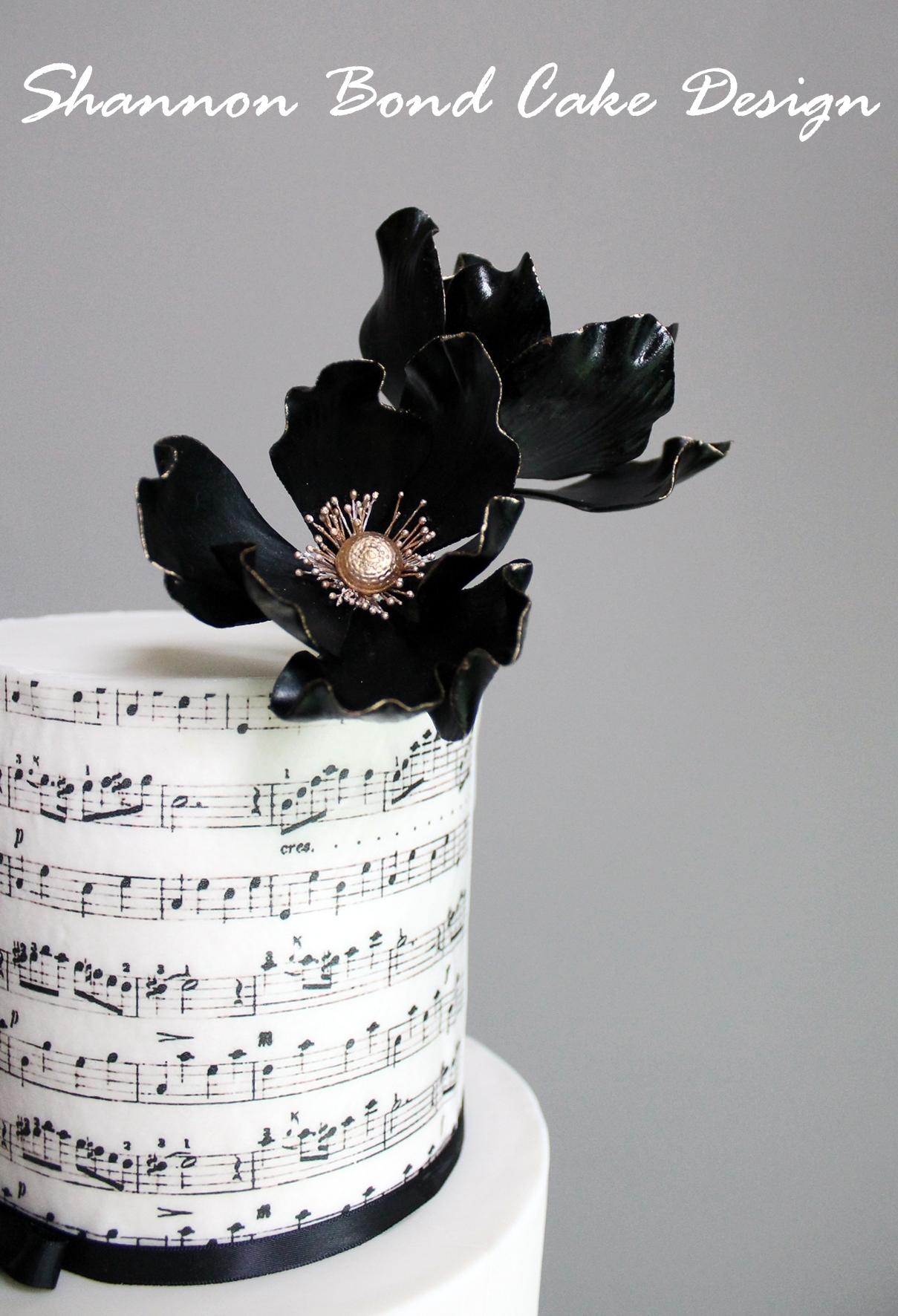 Music And Lace Wedding Cake  CakeCentralcom
