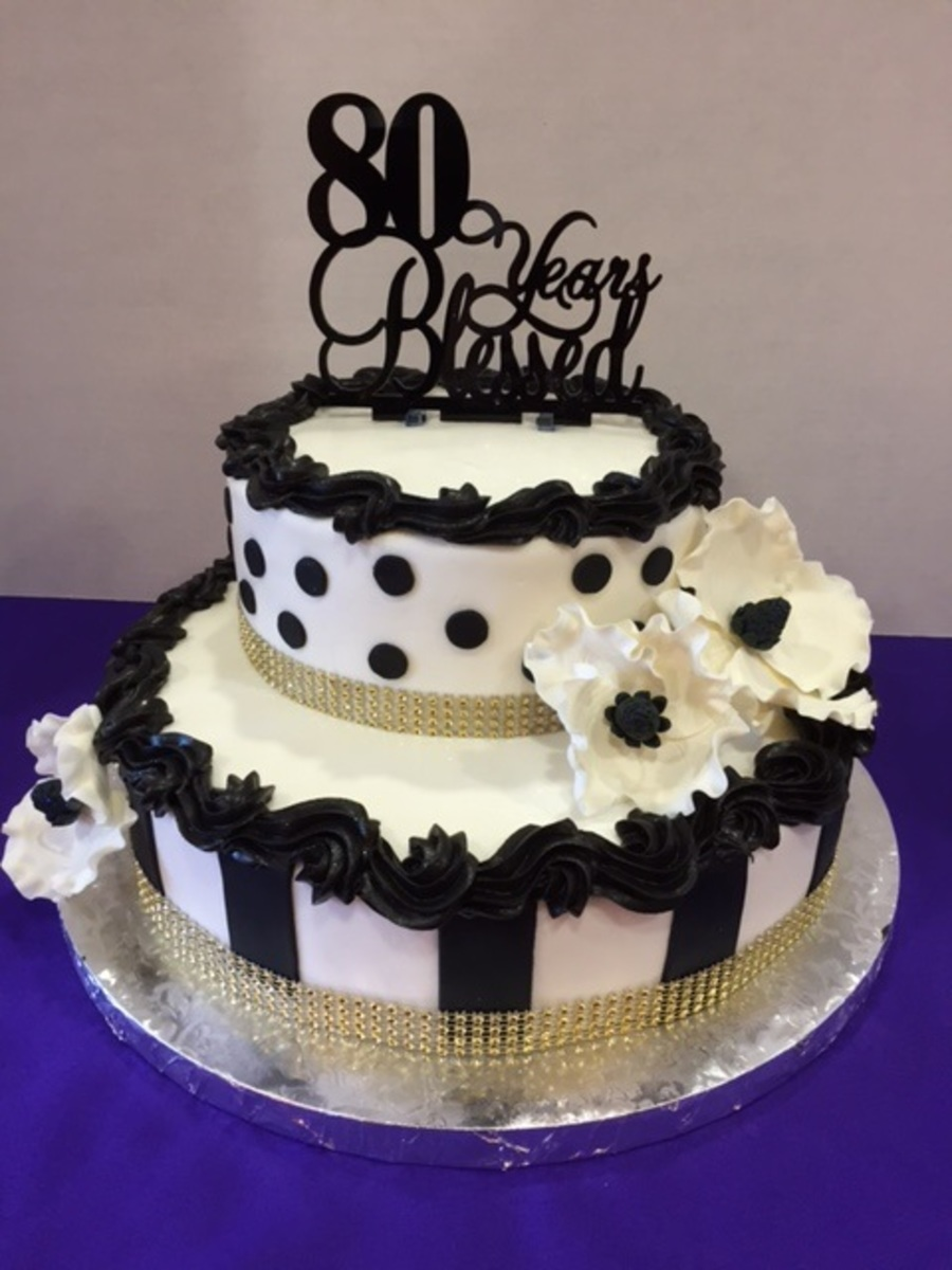 Moms 80th Birthday Cake Cakecentralcom