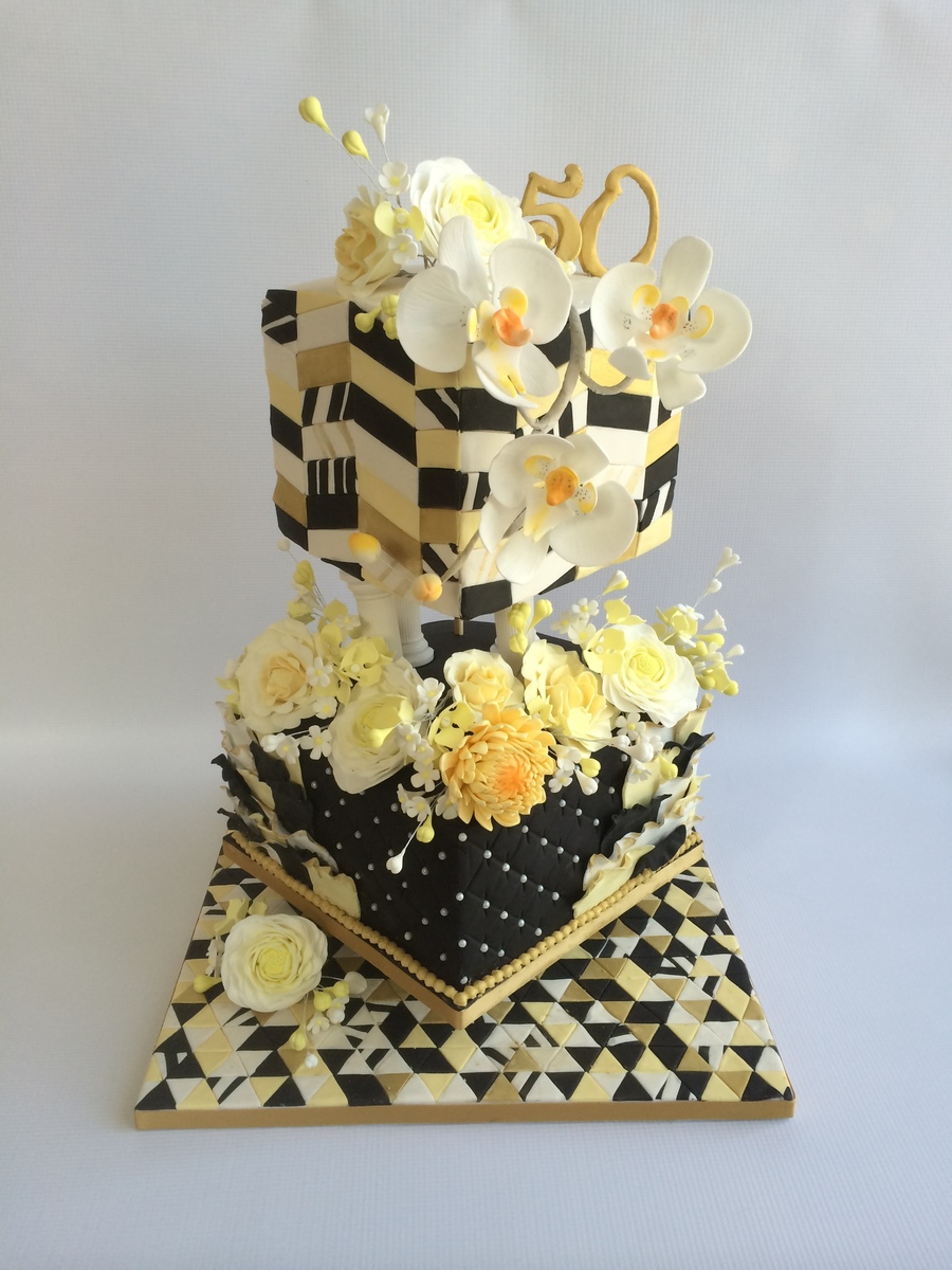 My Parents Golden Anniversary Cake Cakecentral Com