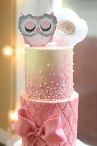 Owl Theme Baby Shower Cake - CakeCentral.com