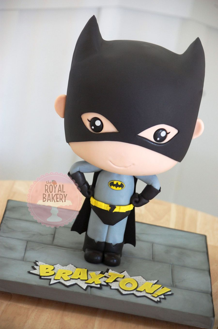 Batman Bobblehead Chibi Cake  CakeCentralcom