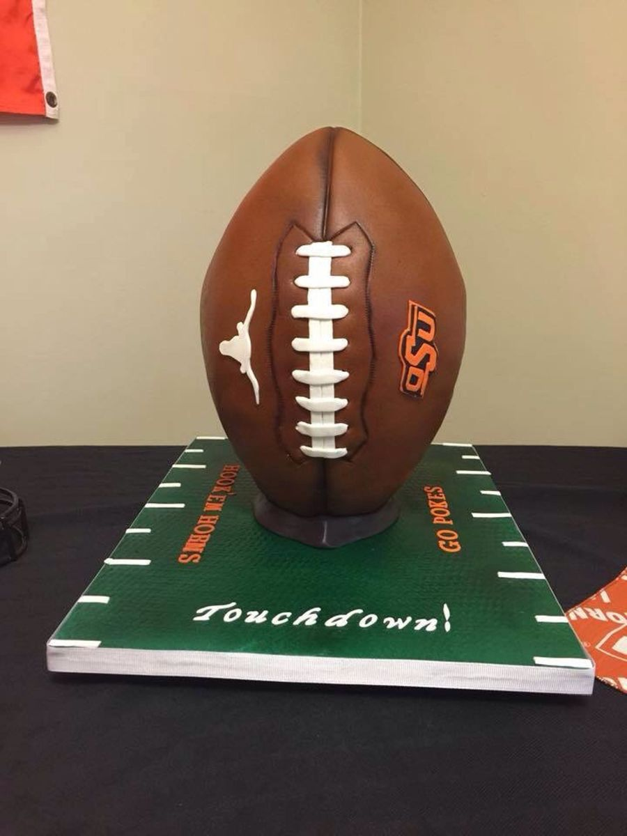 Divided House Football Cake  CakeCentralcom