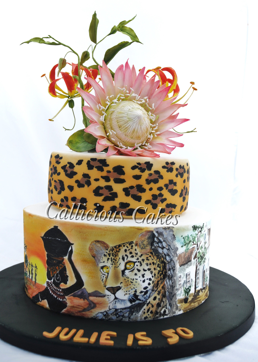 King Protea South African 50Th  CakeCentralcom