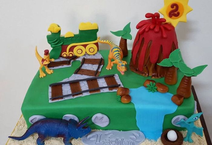 2nd Birthday Dinosaur Train Cake Cakecentralcom