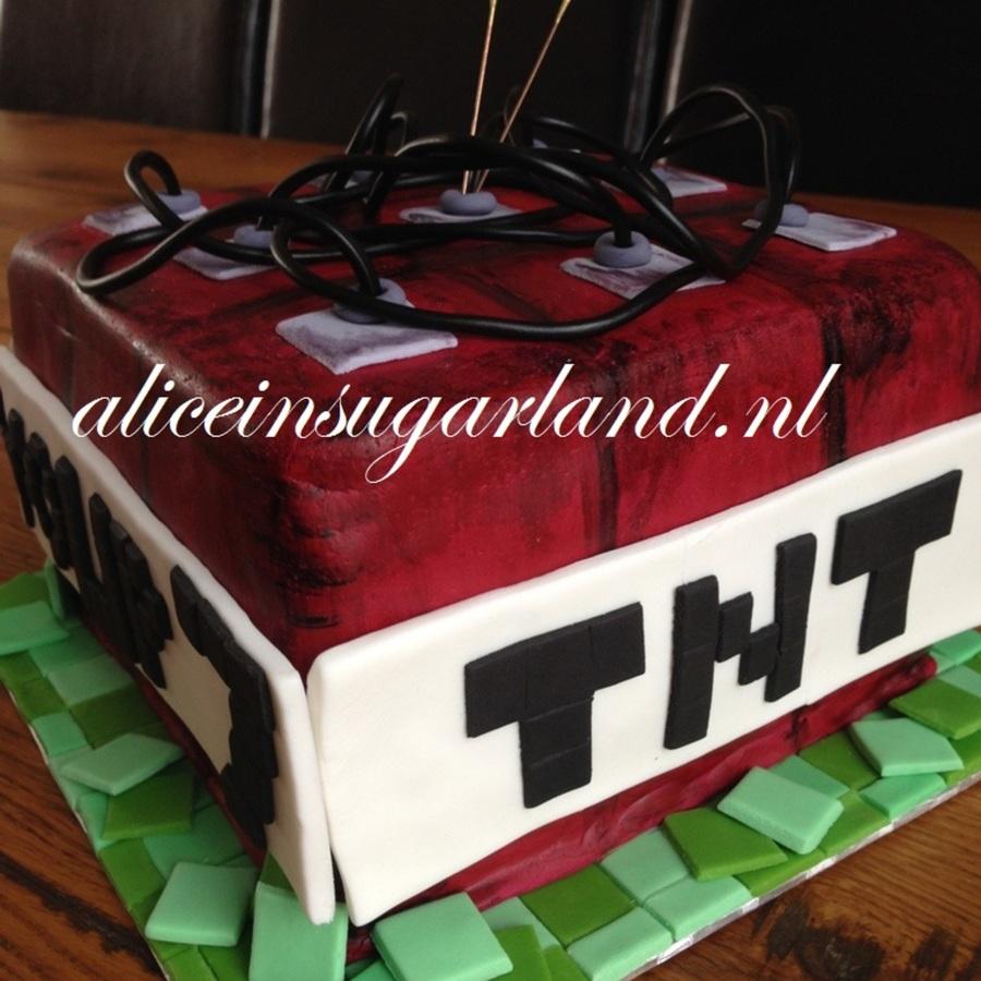 Minecraft Tnt Cake  CakeCentralcom