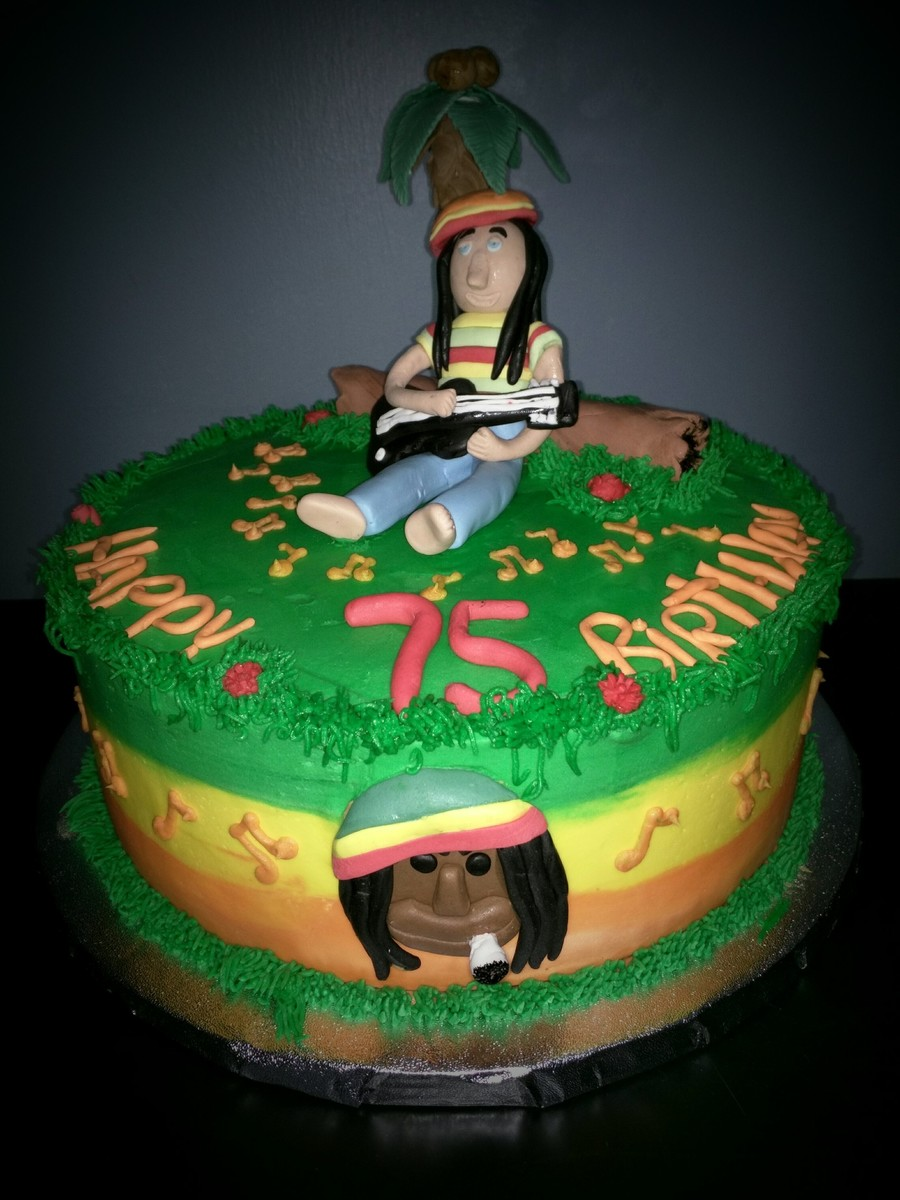 Reggae Themed Party Cake  CakeCentralcom