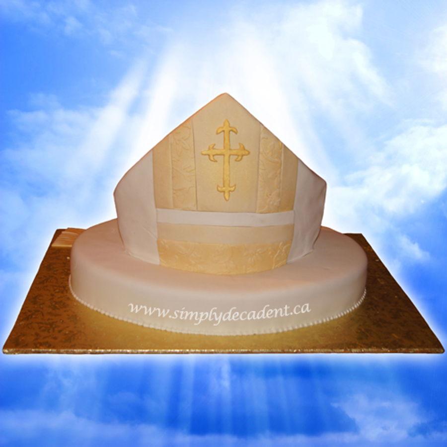 3d Catholic Bishops Mitre Celebration Cake Cakecentral Com