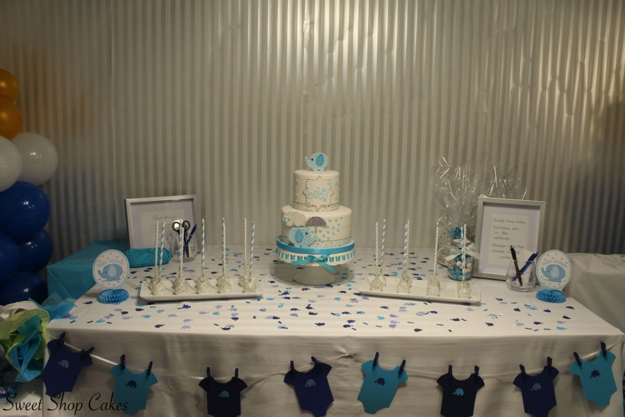 Elephant Themed Baby Shower Cakecentral Com