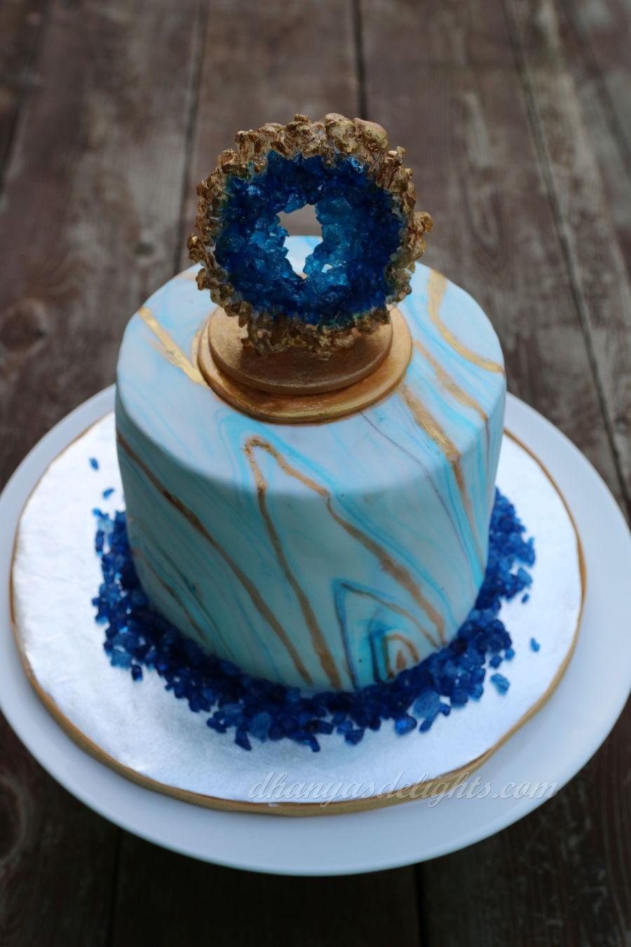 Geode Cake  CakeCentralcom