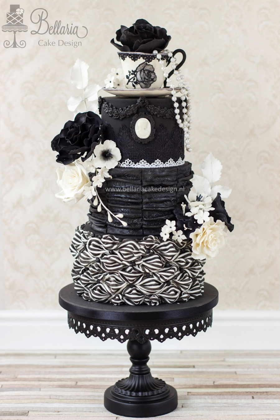 Victorian Gothic Chic Tea Party CakeCentral Com