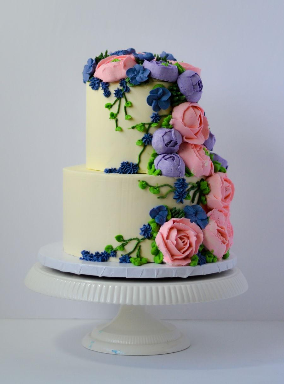 Buttercream Anniversary Cake Cakecentral Com