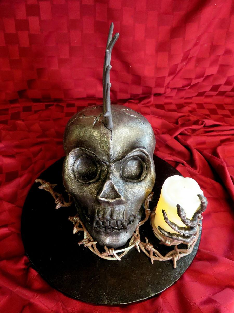 Punk Rock Skull Birthday Cake  CakeCentralcom