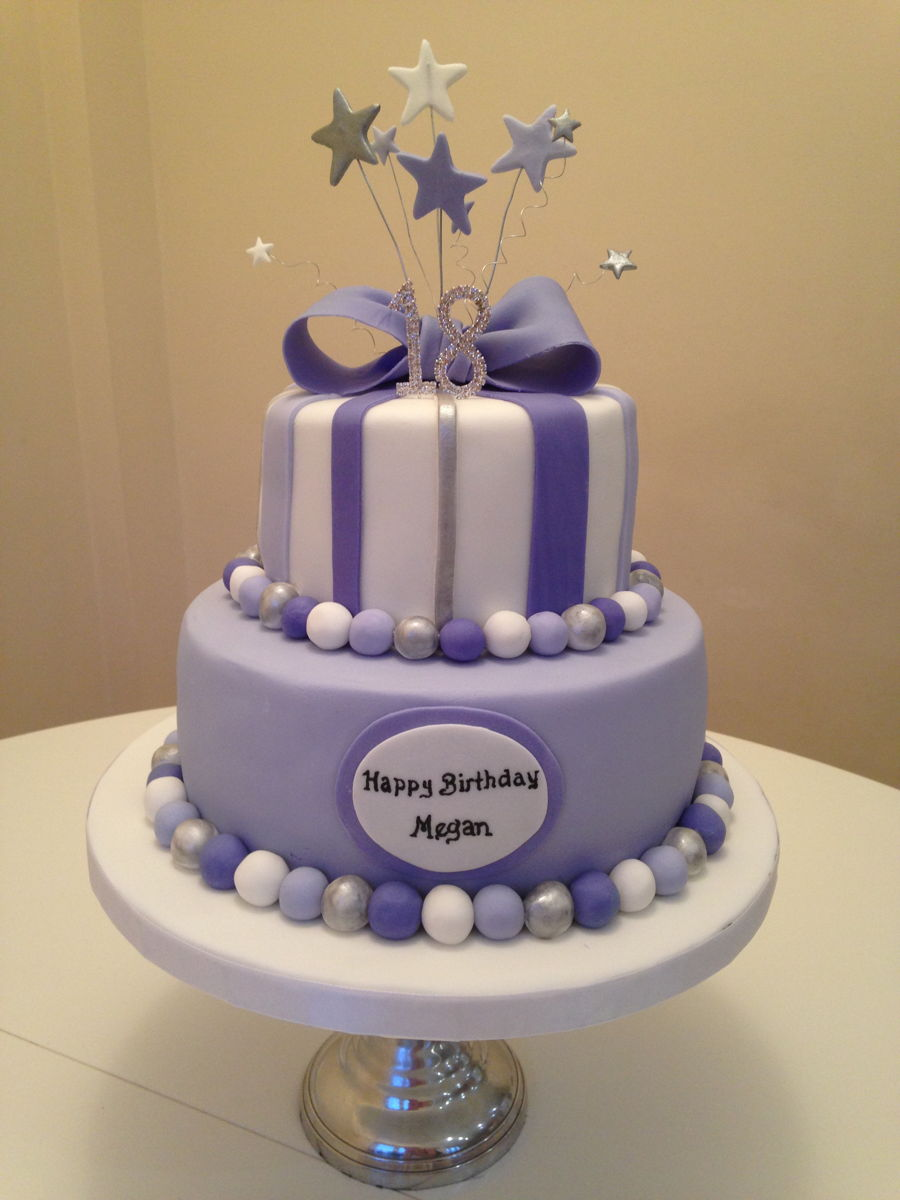 Purple And Lavender Birthday Cake  CakeCentralcom
