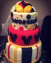 Mickey Mouse Baby Shower Cake - CakeCentral.com