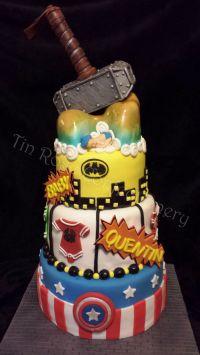 Superhero Baby Shower Cake - CakeCentral.com