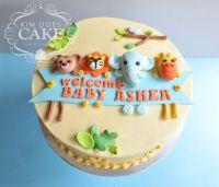 Jungle Animal Baby Shower Cake - CakeCentral.com