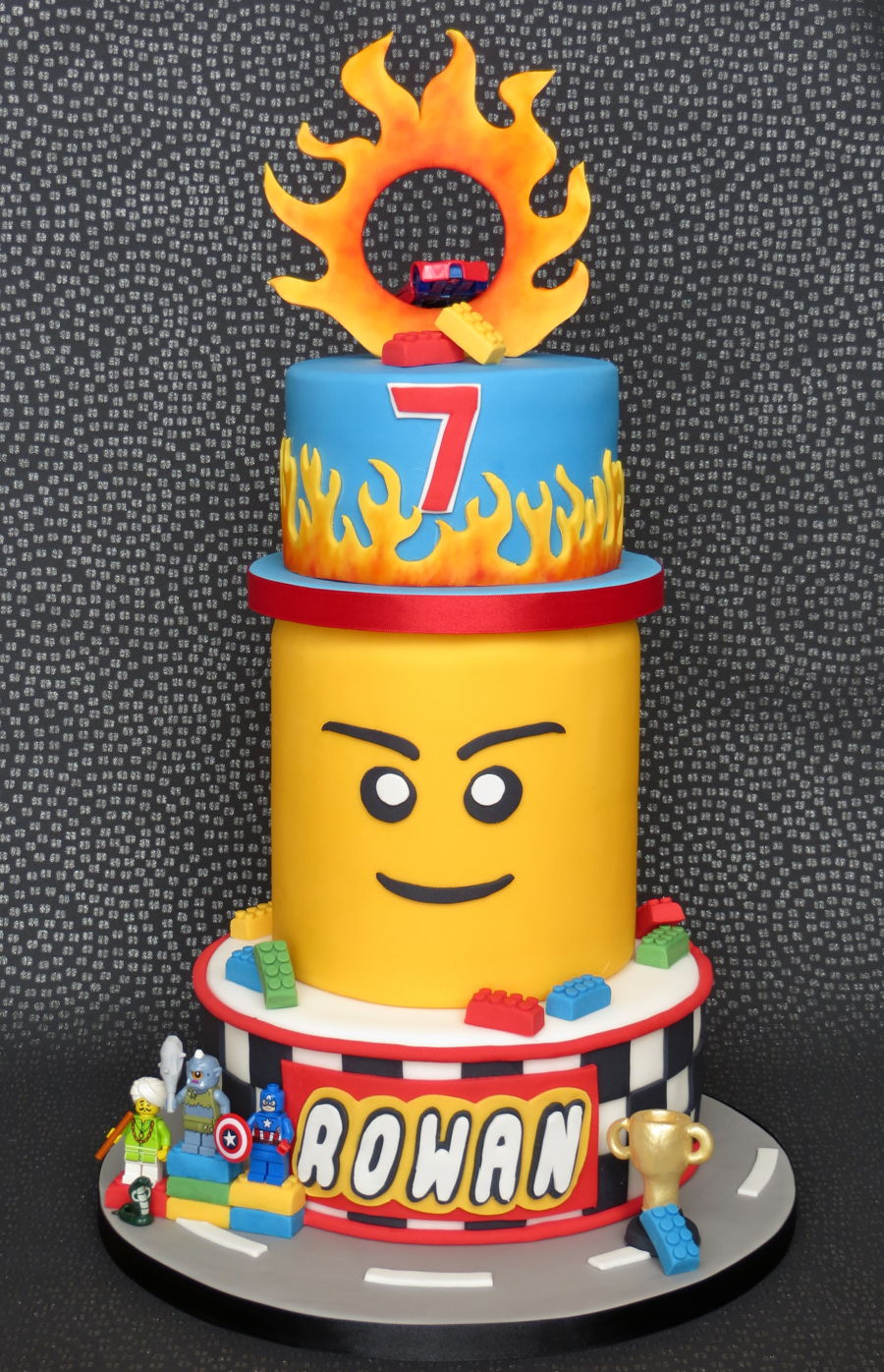 Lego Hot Wheels Cake Cakecentral Com