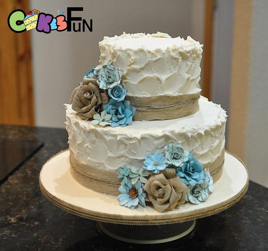 Rustic Wedding Cake  CakeCentralcom