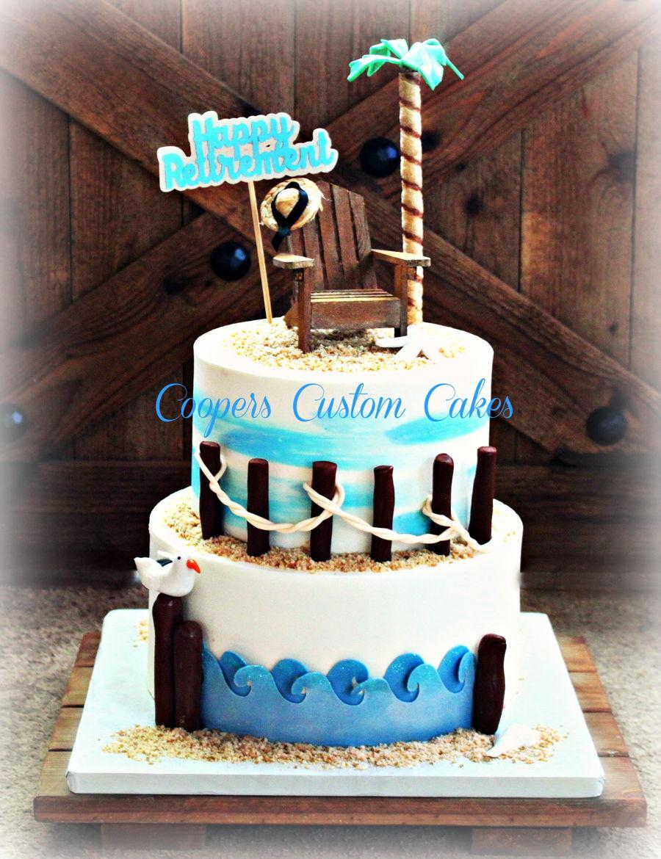 Beach Retirement Cake Cakecentral Com