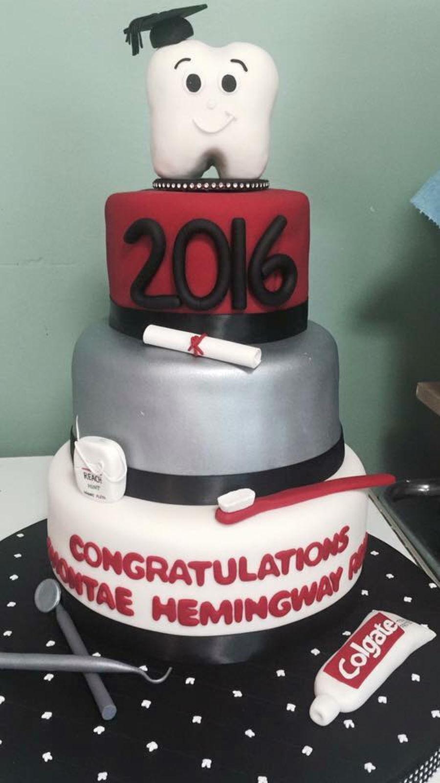 Dental Hygienist Graduation Cake  CakeCentralcom