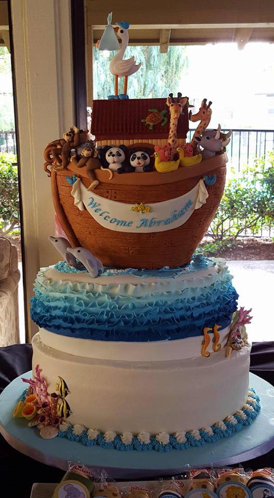 Noahs Ark Baby Shower Cake  CakeCentralcom