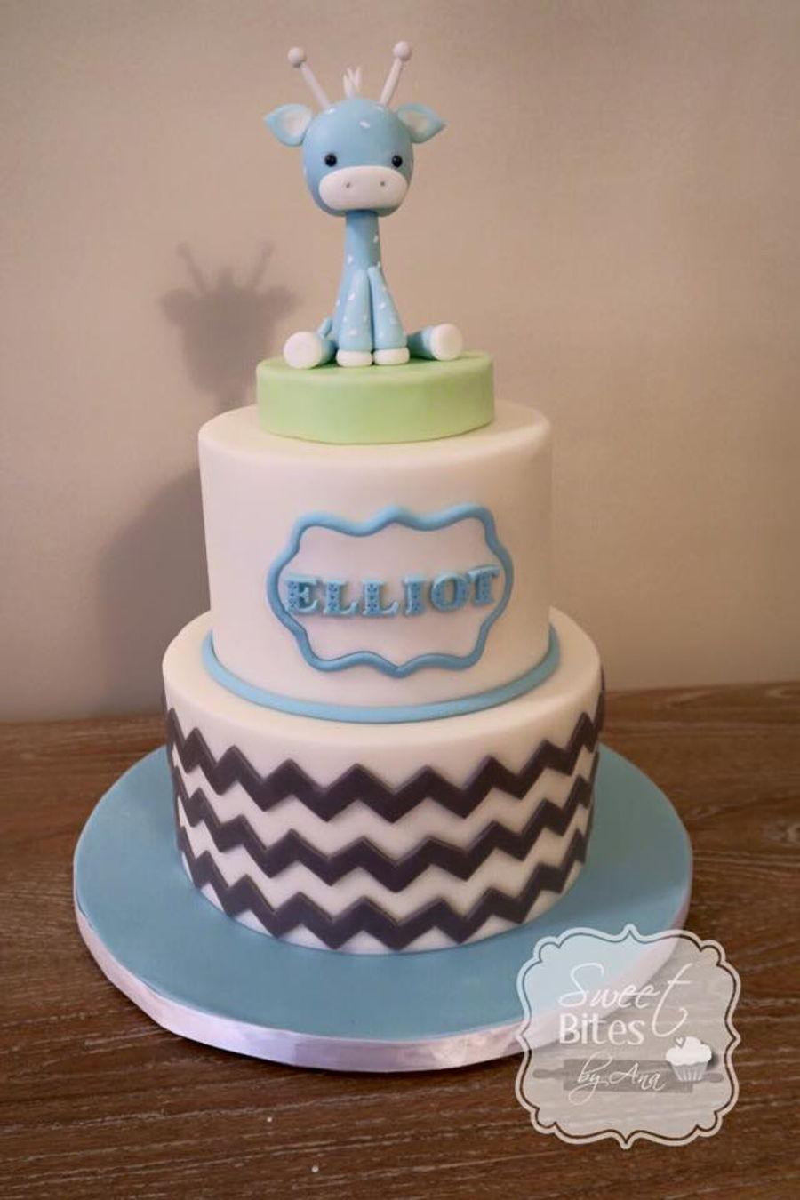Giraffe Boy Baby Shower Cake Cakecentral Com