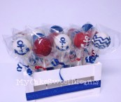 nautical themed cake pops