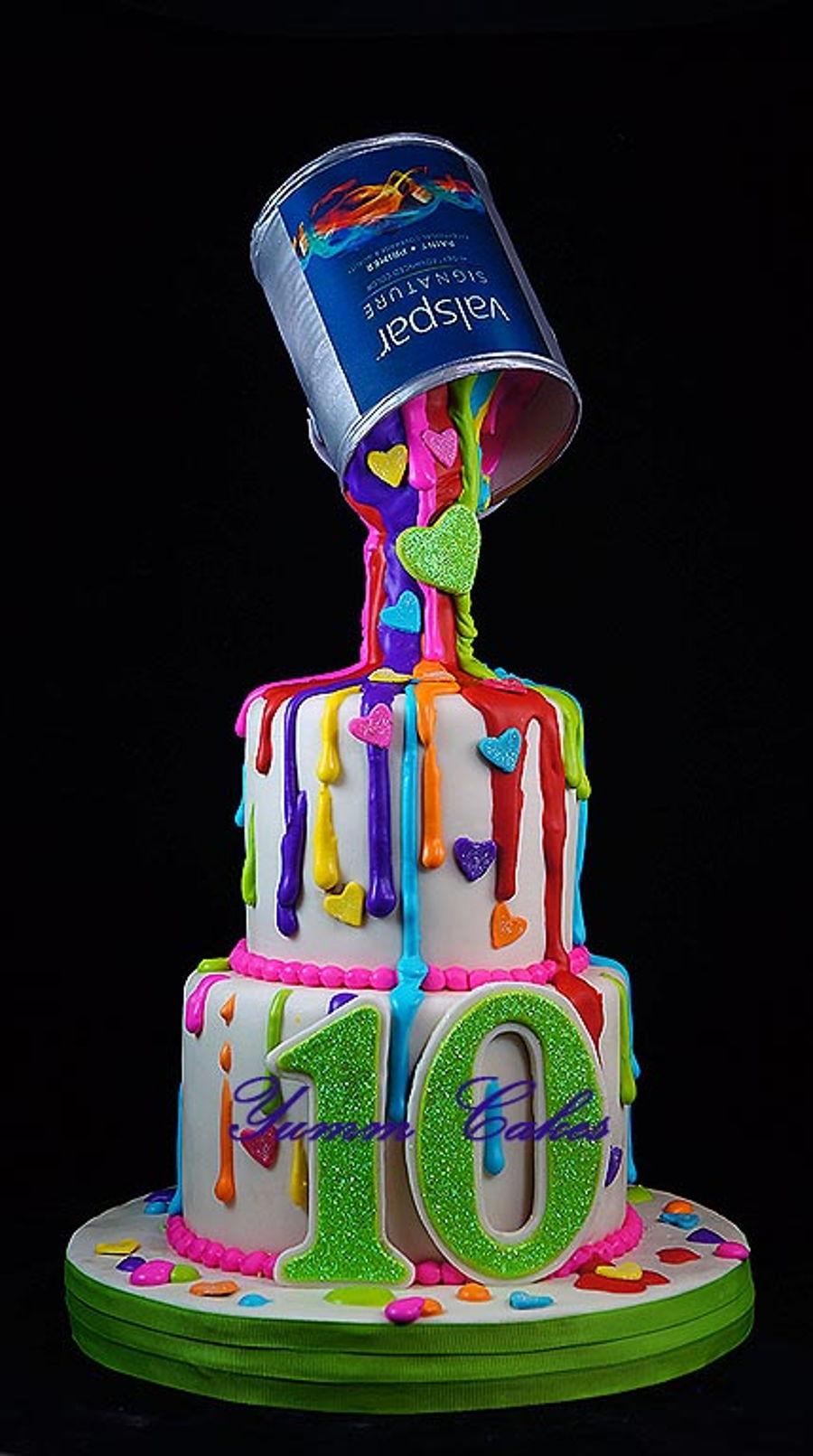 Royal Icing Drip Cake Cakecentral Com