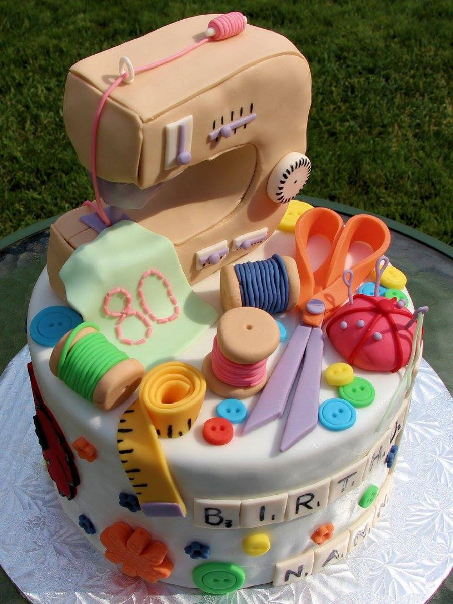 Sewing Themed Cake  CakeCentralcom