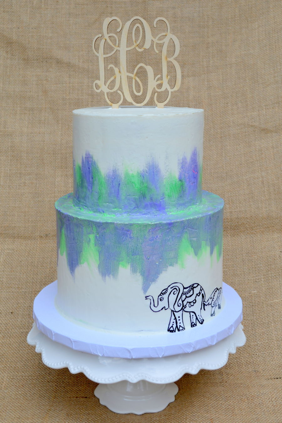 Buttercream Watercolor Cake  CakeCentralcom