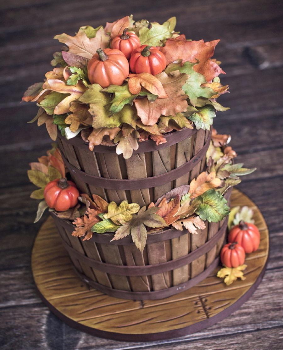 Fall Basket Cake  CakeCentralcom