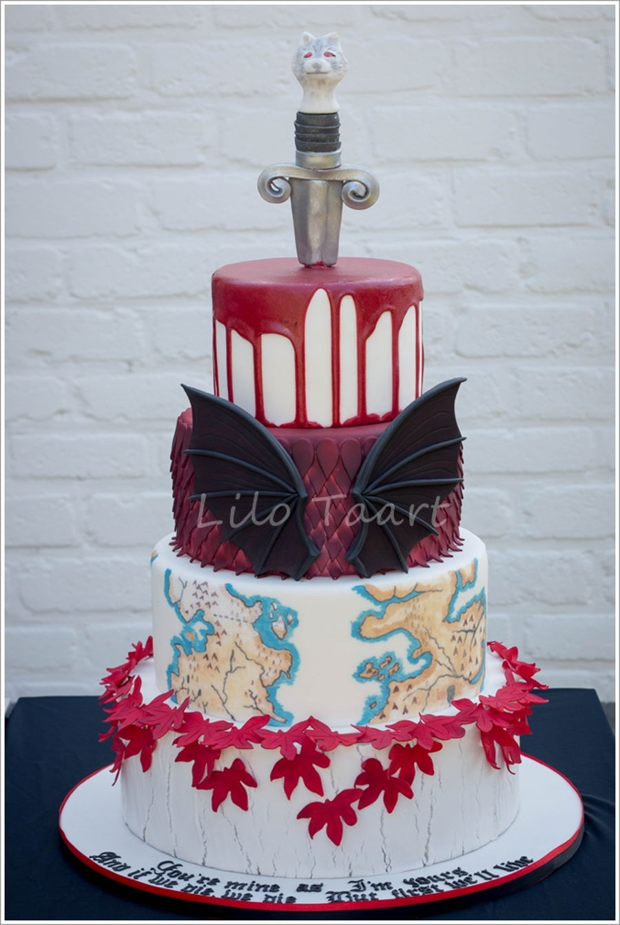 Game Of Thrones Wedding Cake Cakecentral Com