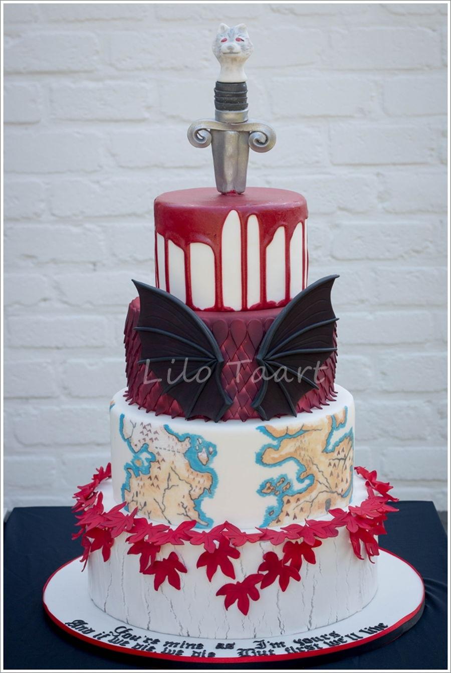 Game Of Thrones Wedding Cake  CakeCentralcom