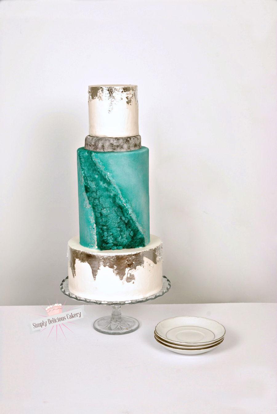 Geode Wedding Cake  CakeCentralcom
