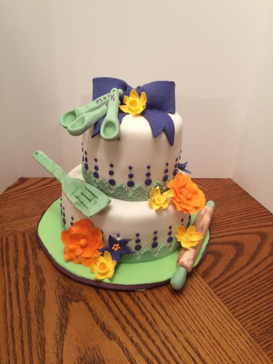 Stock The Kitchen Bridal Shower Cake  CakeCentralcom