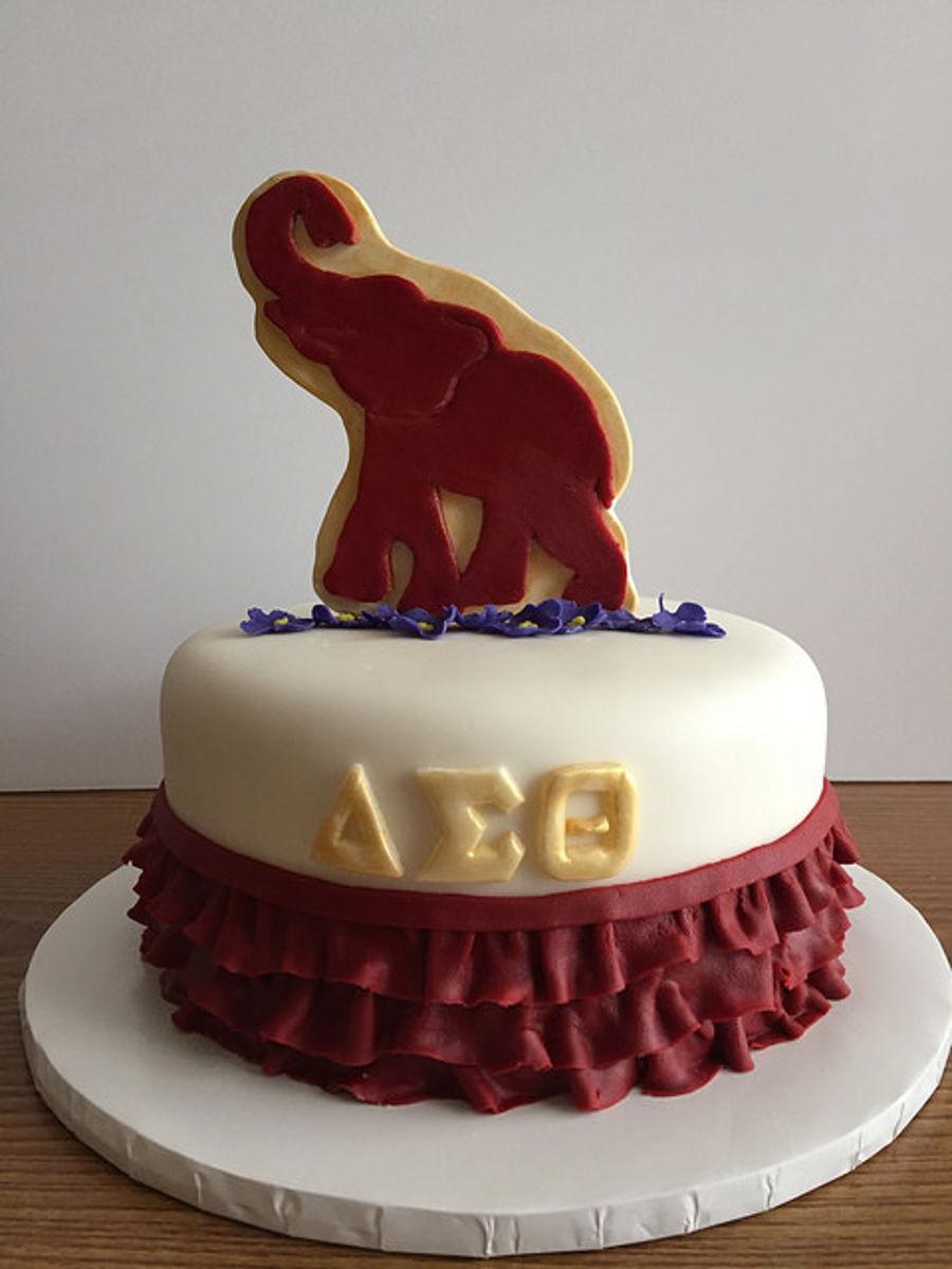 Delta Sigma Theta Cake Cakecentral Com