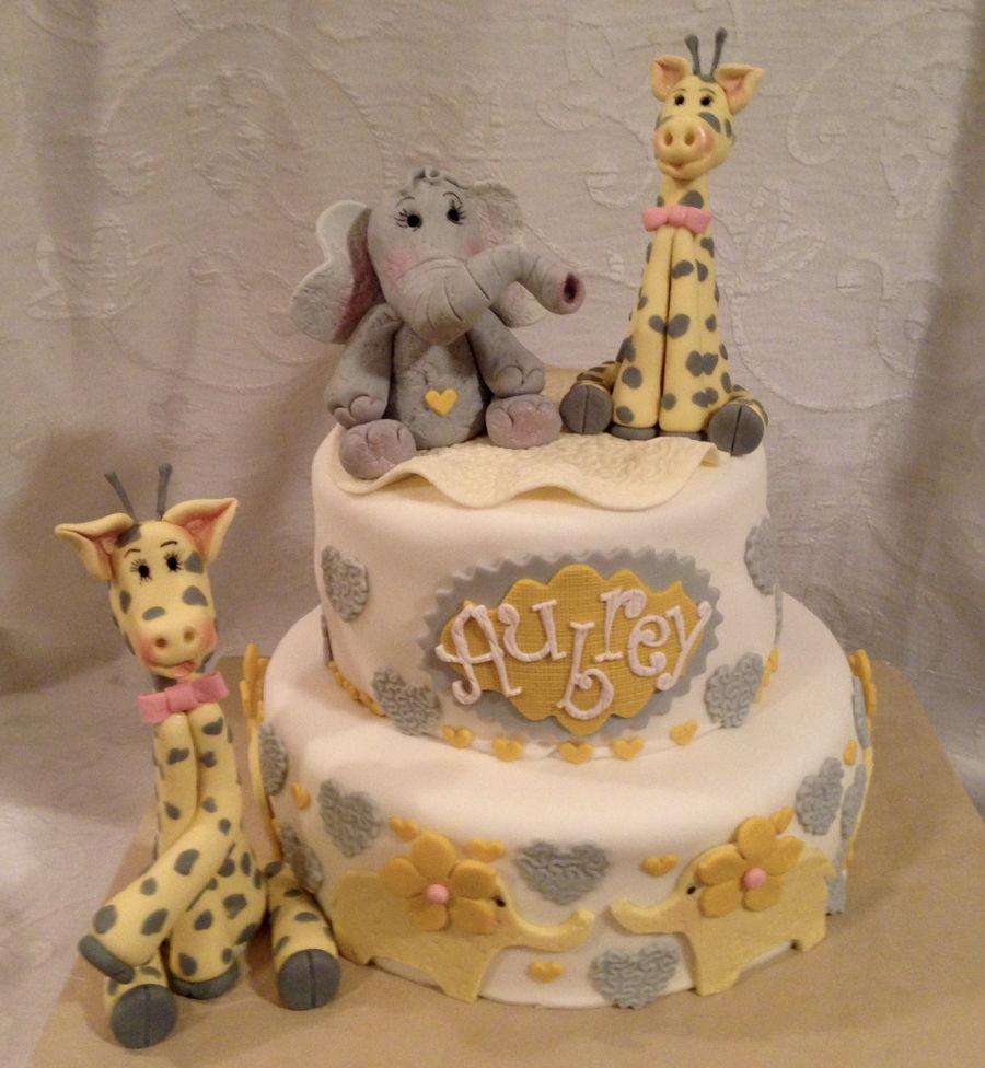 Giraffe Baby Shower Cake, Giraffe Cake, Elefant Cake