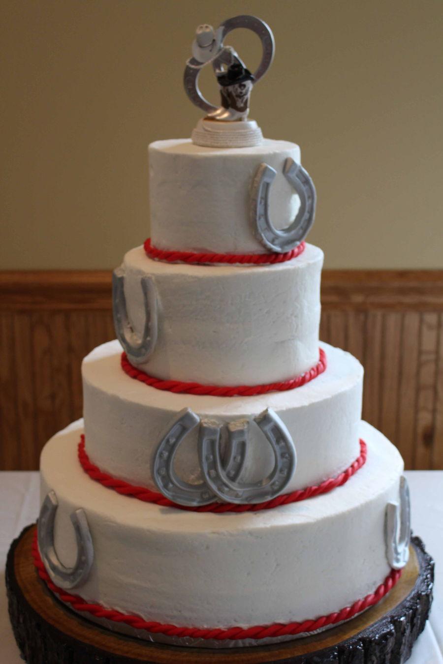 Horseshoe Wedding Cake  CakeCentralcom