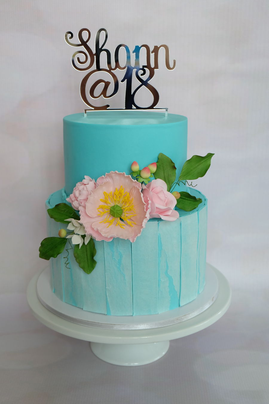 Turqouise Debut Cake Cakecentral Com