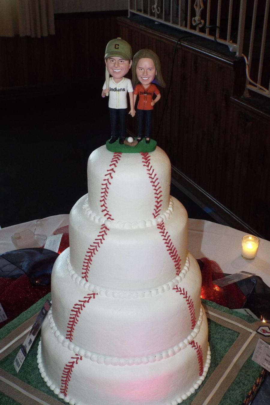 Baseball Wedding Cake  CakeCentralcom