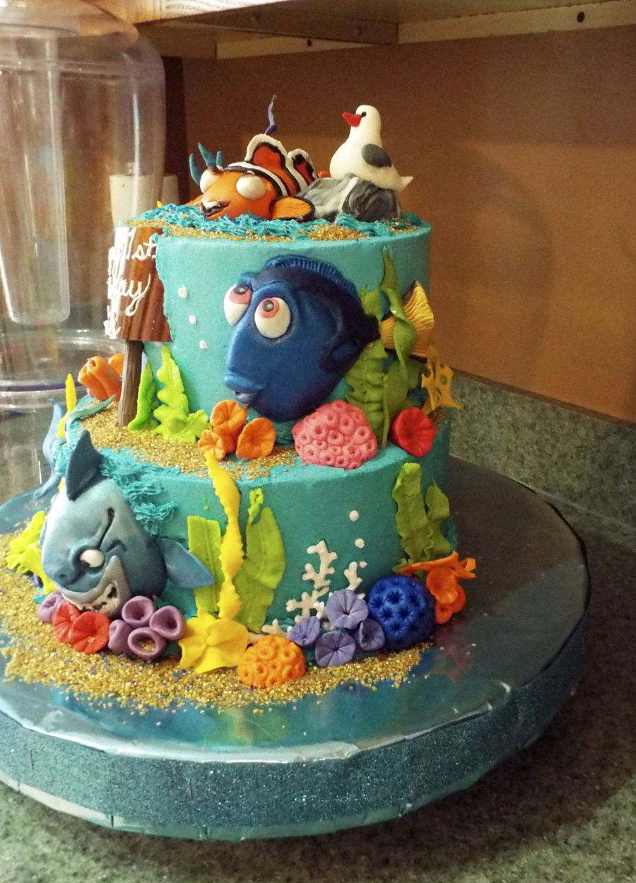 Finding Dory Cake  CakeCentralcom