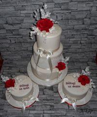 Romantic Wedding Cake-Cake Set - CakeCentral.com